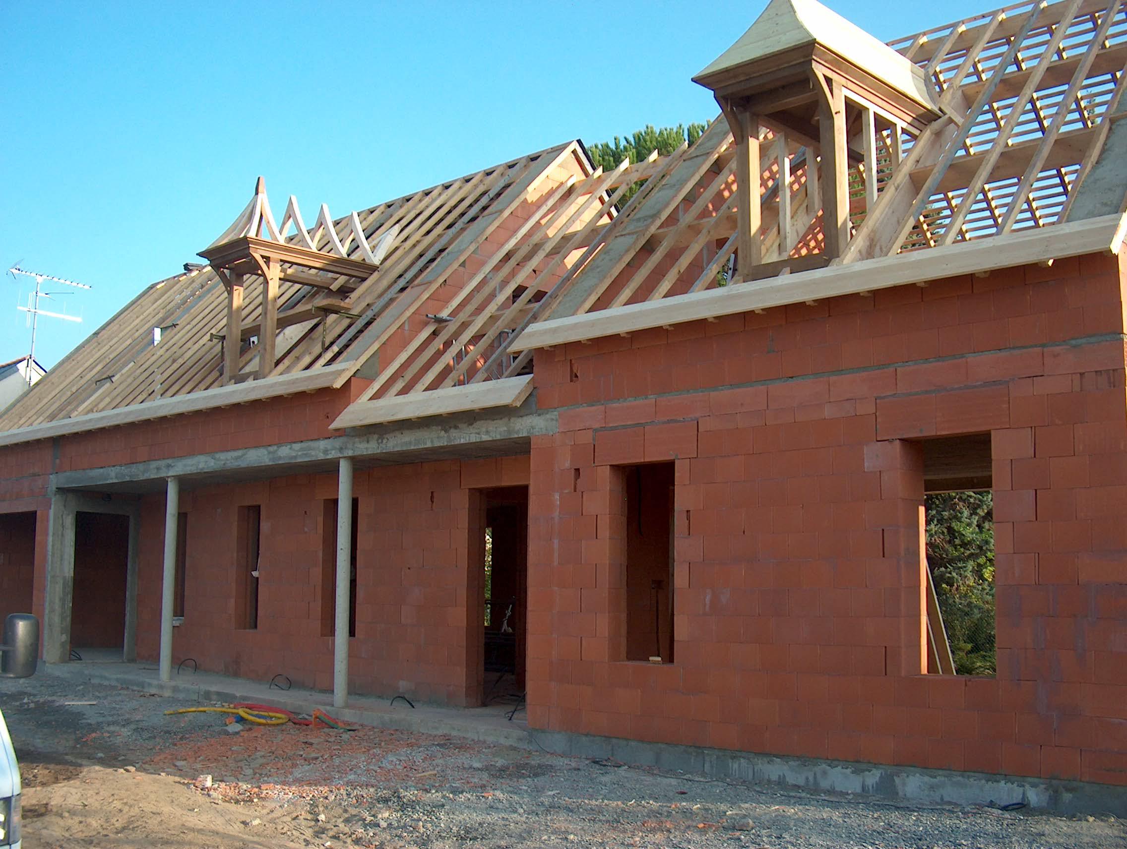 Maison neuve en briques